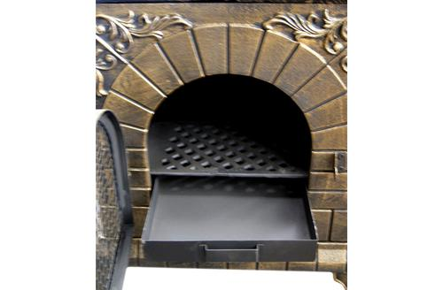 Deeco DM-0039-1A-C Aztec allure cast iron outdoor pizza oven