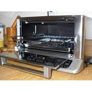 A view of Cuisinart award-winning TOB-195 toaster in action