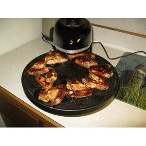 Chicken roasting result with Presto portable pizza oven