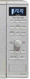 Control panel zoom-in view of Panasonic genius microwave inverter oven