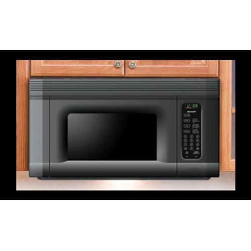 Sharp R-1405 oven fitted perfectly to cabinet