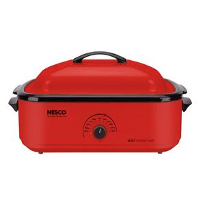 Nesco Classic Roaster Oven in red color optio