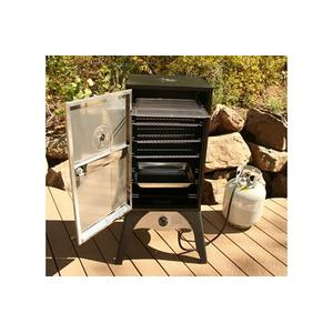 Outdoor placement of camp chef smoke propane box