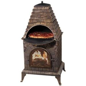Picture of Deeco dm-0039-ia c-aztec allure cast-iron pizza oven chiminea