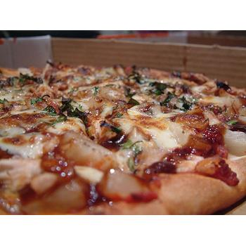 Leek with roasted chicken pizza recipe