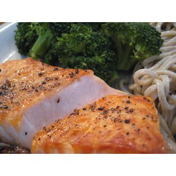 Perfectly broiled salmon